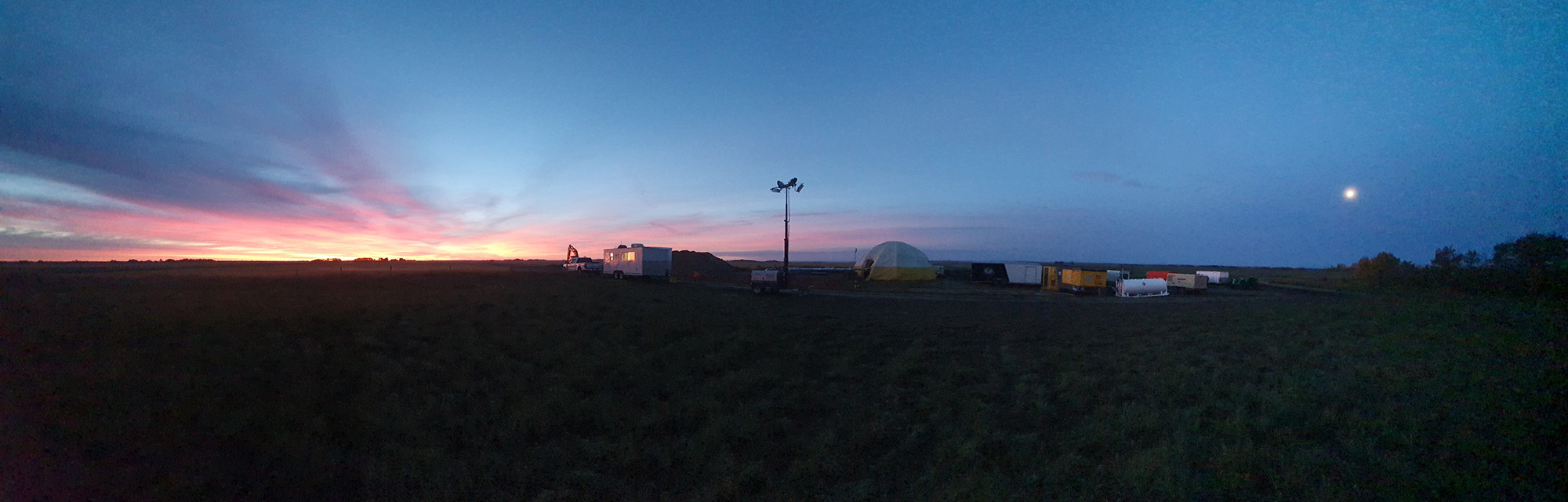 sunset at enerclear site